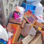 SAMPAH di Desa Wayafli, Kecamatan Maba yang belum diangkut petugas pengelola sampah