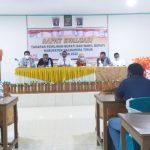 KOMISI Pemilihan Umum (KPU) Kabupaten Halmahera Timur (Haltim) menggelar rapat evaluasi penyelenggara tingkat bawah atau adhok di Aula penginapan Samada, Sabtu (13/3/2021)