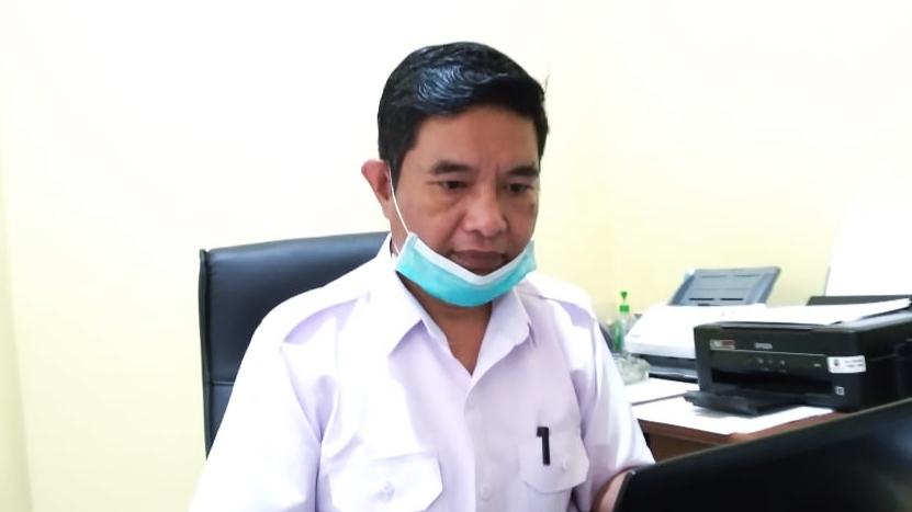 KEPALA Badan Pendapatan Keuangan dan Aset Daerah Haltim, Joko Leno saat ditemui di ruang kerjanya, Rabu (24/03/2021)